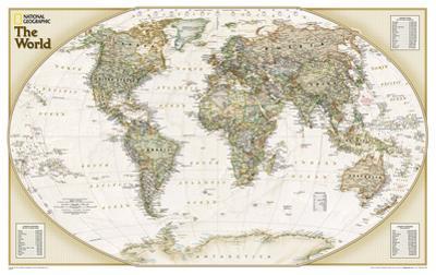 National Geographic - World Explorer Executive Map Laminated Poster