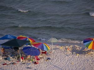 Beach Umbrellas and Toys on the Beach by National Geographic Photographer