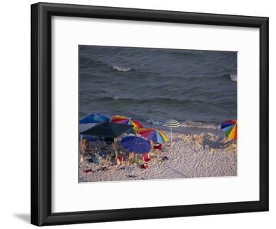 Beach Umbrellas and Toys on the Beach