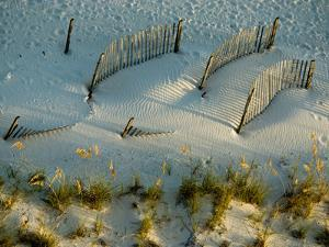 Fences Cast Shadows on Dunes by National Geographic Photographer