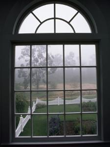 View into a Garden Through a Window on a Foggy Morning by National Geographic Photographer