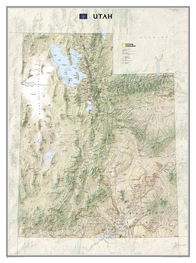 National Geographic - Utah Map Laminated Poster-National Geographic-Laminated Poster