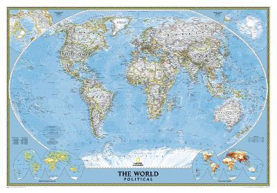 National Geographic - World Classic Map Laminated Poster-National Geographic-Laminated Poster