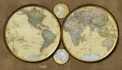 National Geographic - World Hemispheres Map Laminated Poster-National Geographic Maps-Laminated Poster