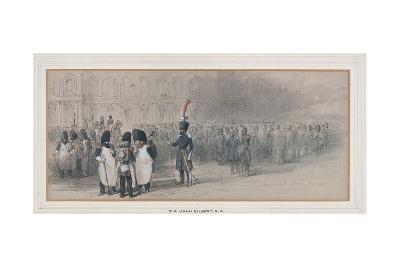 National Guard at the Tuileries, 1846?-John Gilbert-Giclee Print