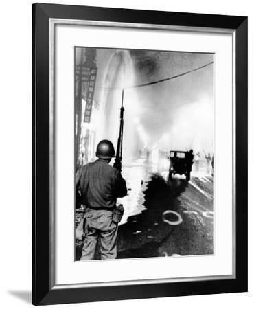 National Guard in Watts During the 1965 Race Riot--Framed Photo