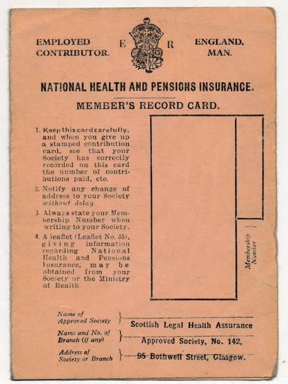 'National Health and Pensions Insurance Card: Member's Record Card', c1930s-Unknown-Giclee Print