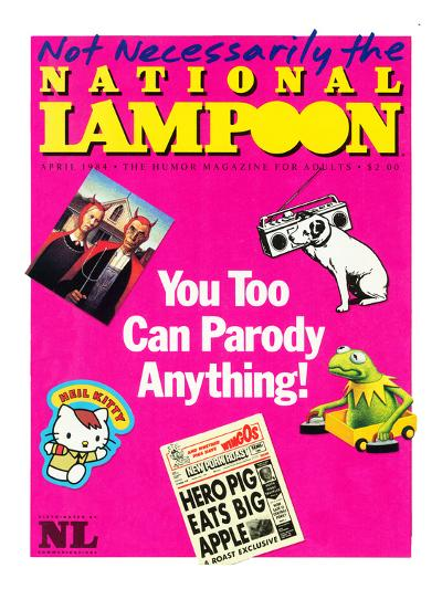 National Lampoon, April 1984 - You Too Can Parody Anything--Art Print