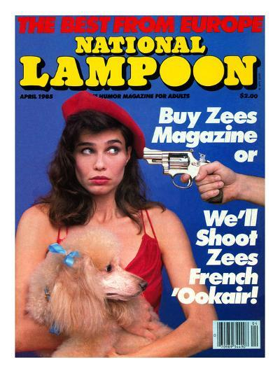 National Lampoon, April 1985 - The Best From Euope--Art Print