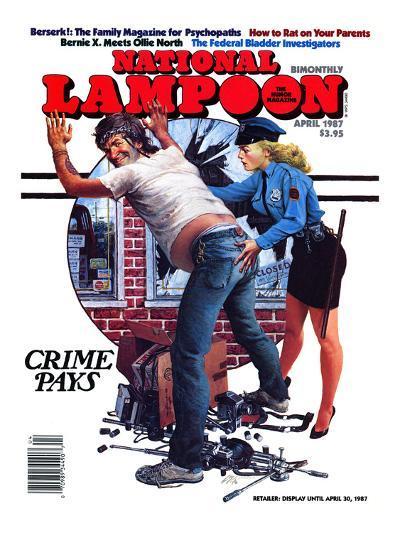 National Lampoon, April 1987 - Crime Pays--Art Print