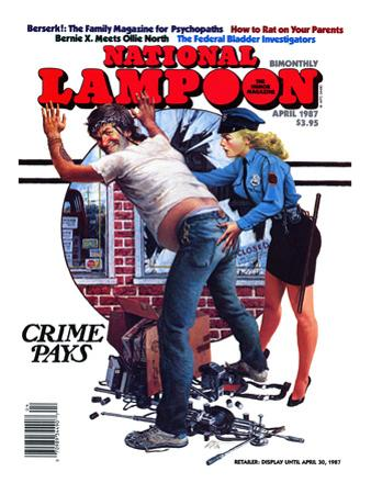 National Lampoon, April 1987 - Crime Pays