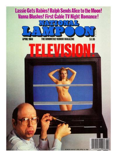 National Lampoon, April 1988 - Television--Art Print