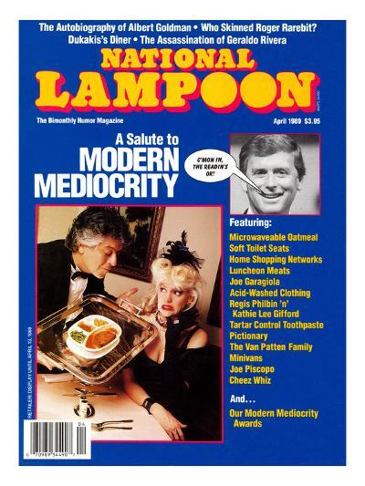 National Lampoon, April 1989 - Modern Mediocrity--Art Print