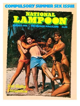 National Lampoon, August 1976 - Compulsory Summer Sex Issue