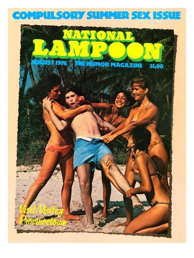 National Lampoon, August 1976 - Compulsory Summer Sex Issue--Art Print