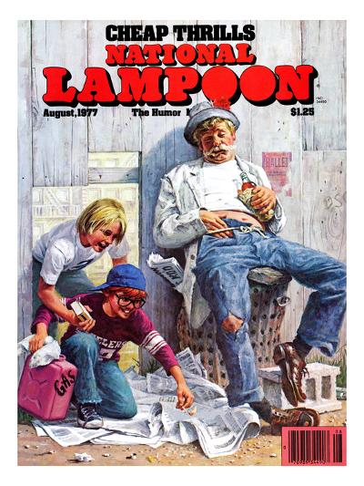 National Lampoon, August 1977 - Cheap Thrills--Art Print