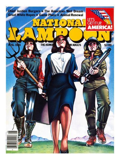 National Lampoon, August 1981 - The American Wet Dream: Women with Power--Art Print