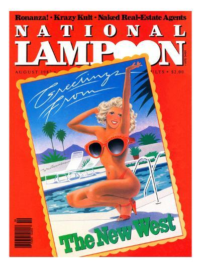 National Lampoon, August 1982 - Greetings From the New West--Art Print