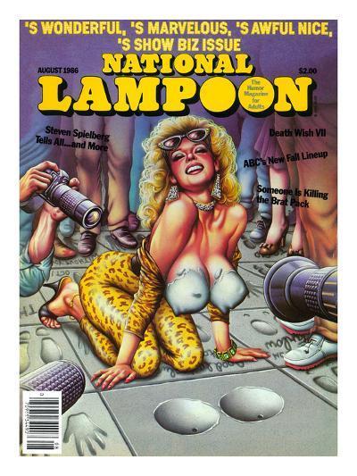 National Lampoon, August 1986 - Show Biz Issue--Art Print