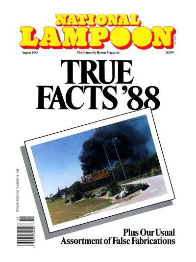 National Lampoon, August 1988 - True Facts '88--Art Print