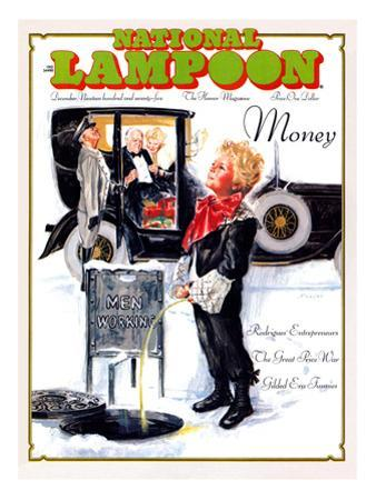 National Lampoon, December 1975 - Money, Peeing on the Men Working Below