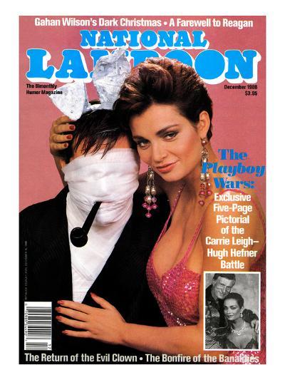 National Lampoon, December 1988 - The Playboy Wars--Art Print