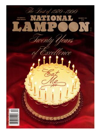 National Lampoon, December 1990 - Twenty Years of Excellence: Eat Me