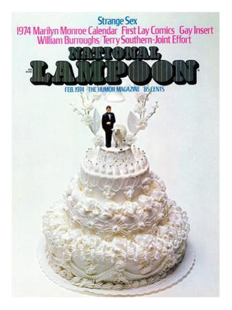 National Lampoon, February 1974 - Strange Sex and a Wedding Cake