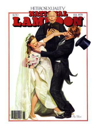 National Lampoon, February 1979 - Heterosexuality: A Violent Wedding, Violent Bride and Violent Gro