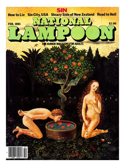 National Lampoon, February 1981 - Sin: Adam Bobs for Apples--Art Print