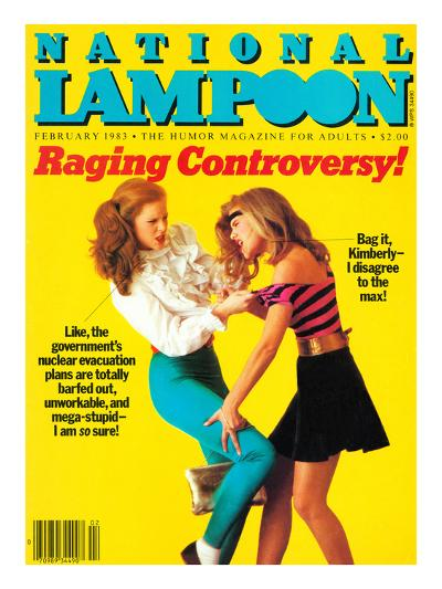 National Lampoon, February 1983 - Raging Controversy--Art Print