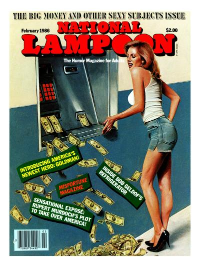National Lampoon, February 1986 - Big Money and Other Sexy Subjects Issue--Art Print