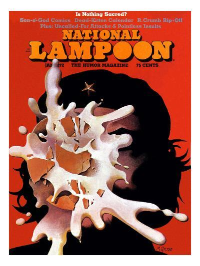 National Lampoon, January 1972 - Is Nothing Sacred?--Art Print