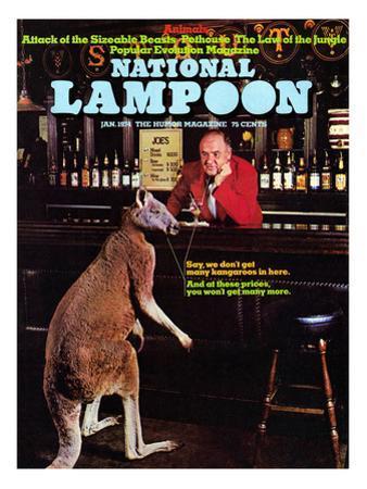 National Lampoon, January 1974 - Animals, Kangaroo at the Bar