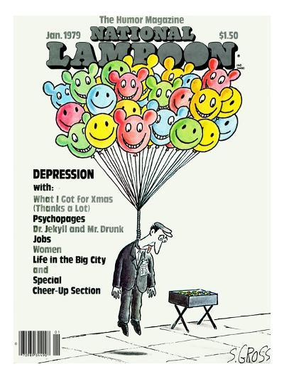 National Lampoon, January 1979 - Depression: Hanged with Happy Baloons--Art Print