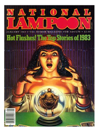 National Lampoon, January 1983 - Hot Flashes, The Psychic Fortune Teller with the Top Stories