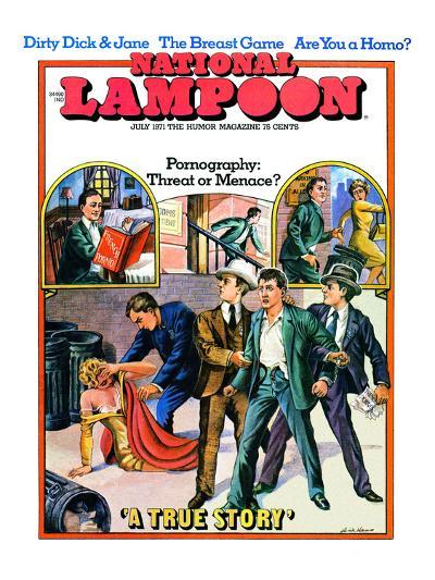 National Lampoon, July 1971 - Pornography: Threat or Menace--Art Print