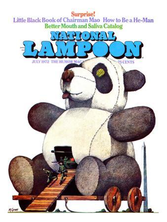 National Lampoon, July 1972 - Little Black Book of Chairman Mao, the Trojan Panda