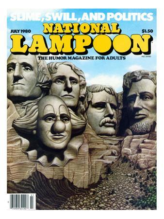 National Lampoon, July 1980 - Mount Rushmore with a Clown