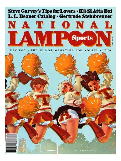 National Lampoon, July 1982 - Revealing Sports--Art Print