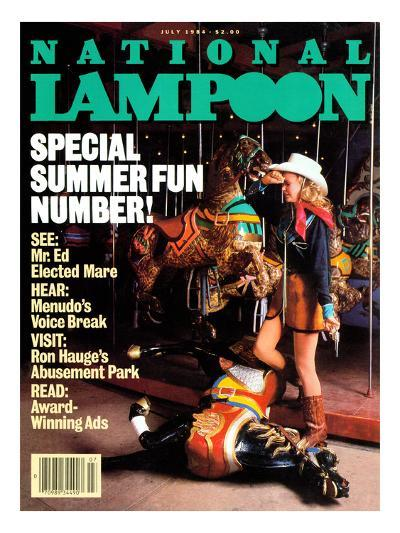 National Lampoon, July 1984 - Special Summer Fun Number!--Art Print