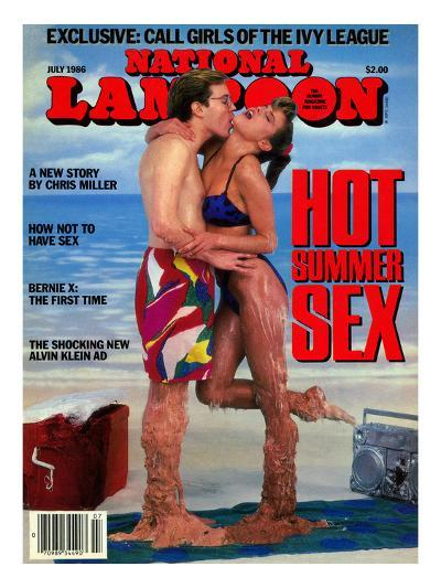 National Lampoon, July 1986 - Hot Summer Sex, So Hot They're Malting--Art Print