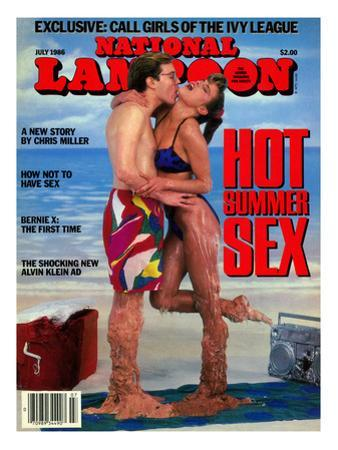 National Lampoon, July 1986 - Hot Summer Sex, So Hot They're Malting