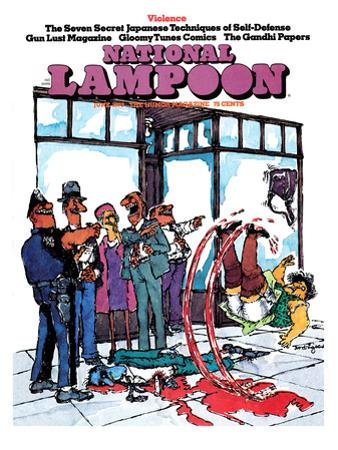 National Lampoon, June 1973 - Violence, Slipping in Blood
