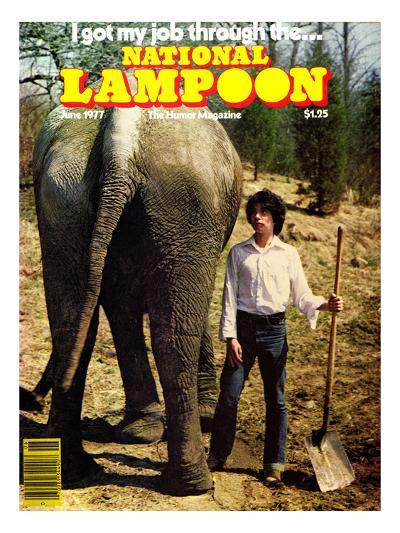 National Lampoon, June 1977 - I got my job through the…--Art Print