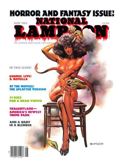 National Lampoon, June 1986 - Horror and Fantasy Issue--Art Print