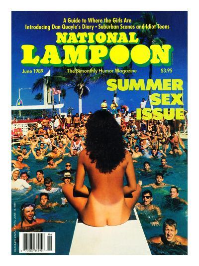 National Lampoon, June 1989 - Summer Sex Issue--Art Print
