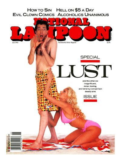 National Lampoon, June 1990 - Lust--Art Print