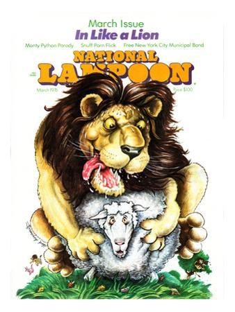 National Lampoon, March 1976 - In Like a Lion, on the Lamb