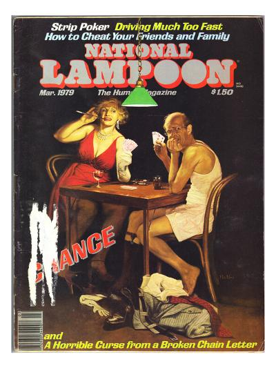 National Lampoon, March 1979 - Chance of Strip Poker--Art Print